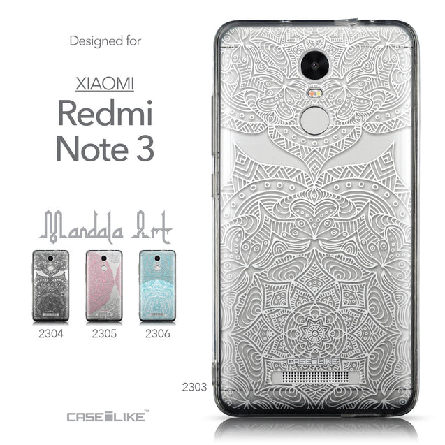 Collection - CASEiLIKE Xiaomi Redmi Note 3 back cover Mandala Art 2303
