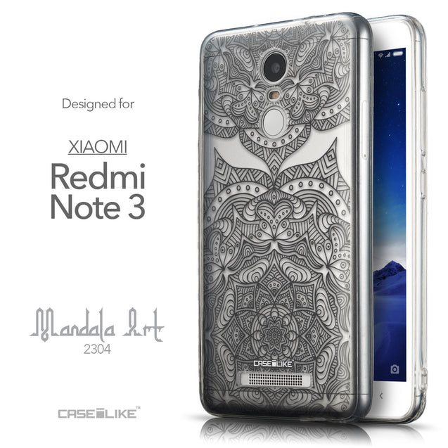 Front & Side View - CASEiLIKE Xiaomi Redmi Note 3 back cover Mandala Art 2304