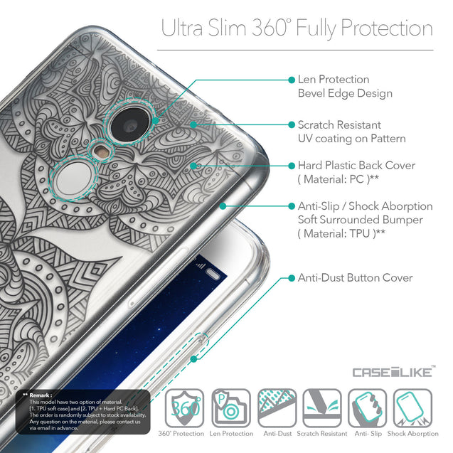 Details in English - CASEiLIKE Xiaomi Redmi Note 3 back cover Mandala Art 2304