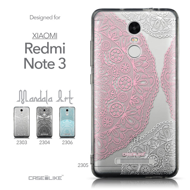 Collection - CASEiLIKE Xiaomi Redmi Note 3 back cover Mandala Art 2305