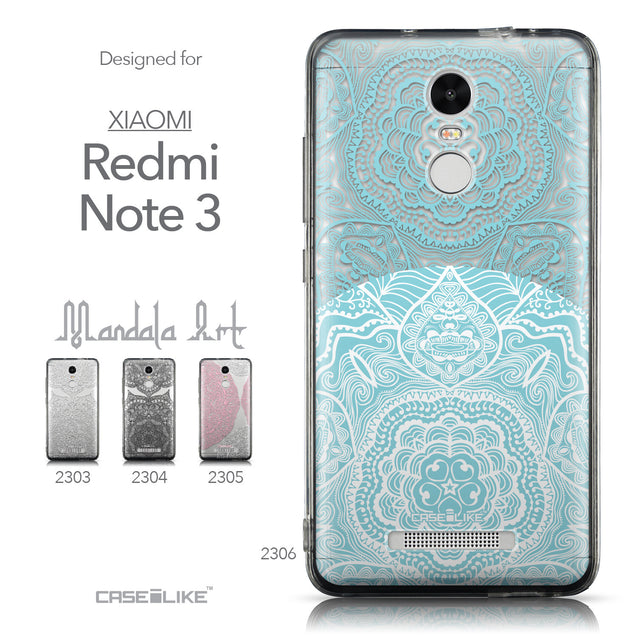 Collection - CASEiLIKE Xiaomi Redmi Note 3 back cover Mandala Art 2306