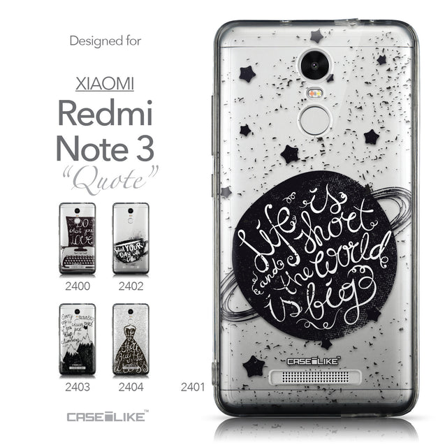 Collection - CASEiLIKE Xiaomi Redmi Note 3 back cover Quote 2401