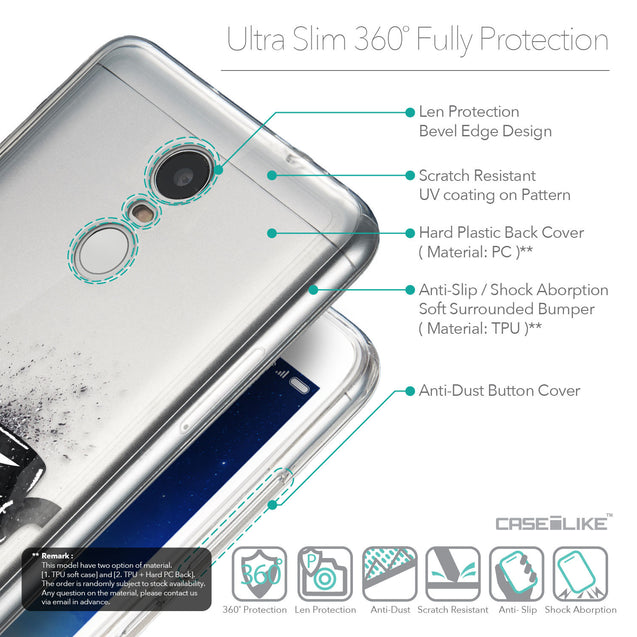 Details in English - CASEiLIKE Xiaomi Redmi Note 3 back cover Quote 2402