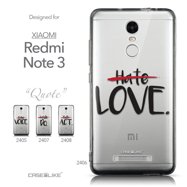 Collection - CASEiLIKE Xiaomi Redmi Note 3 back cover Quote 2406