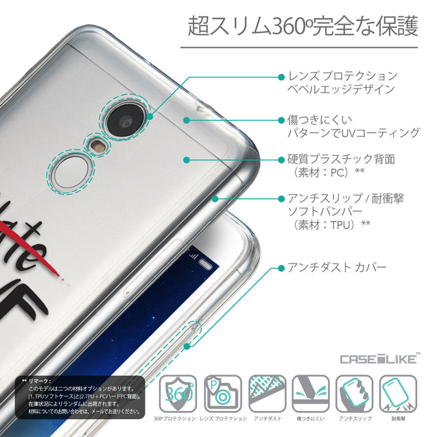 Details in Japanese - CASEiLIKE Xiaomi Redmi Note 3 back cover Quote 2406