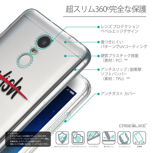 Details in Japanese - CASEiLIKE Xiaomi Redmi Note 3 back cover Quote 2407