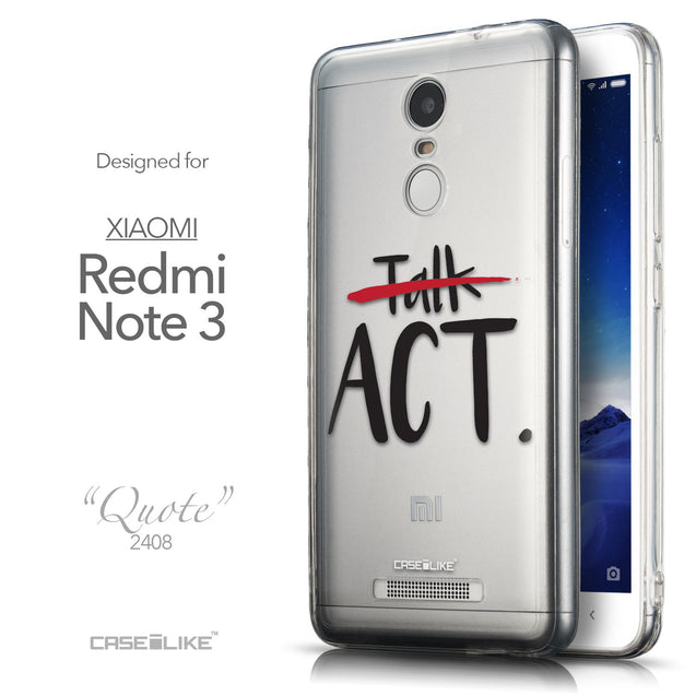 Front & Side View - CASEiLIKE Xiaomi Redmi Note 3 back cover Quote 2408