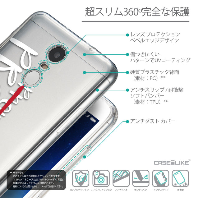 Details in Japanese - CASEiLIKE Xiaomi Redmi Note 3 back cover Quote 2409
