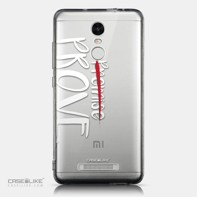 CASEiLIKE Xiaomi Redmi Note 3 back cover Quote 2409