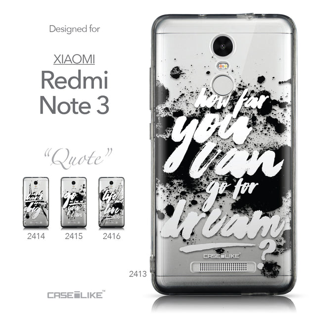 Collection - CASEiLIKE Xiaomi Redmi Note 3 back cover Quote 2413