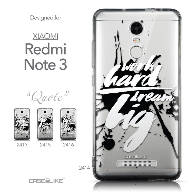 Collection - CASEiLIKE Xiaomi Redmi Note 3 back cover Quote 2414