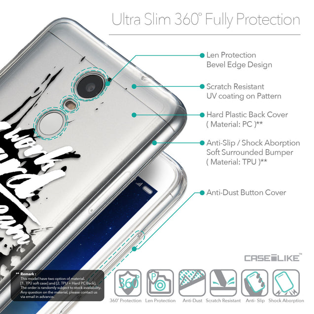 Details in English - CASEiLIKE Xiaomi Redmi Note 3 back cover Quote 2414