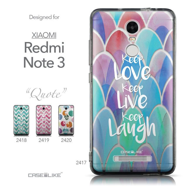 Collection - CASEiLIKE Xiaomi Redmi Note 3 back cover Quote 2417