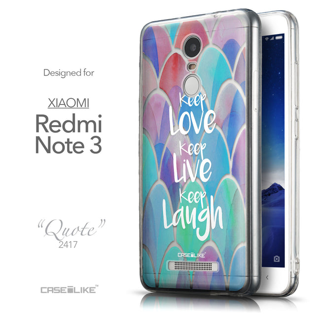 Front & Side View - CASEiLIKE Xiaomi Redmi Note 3 back cover Quote 2417
