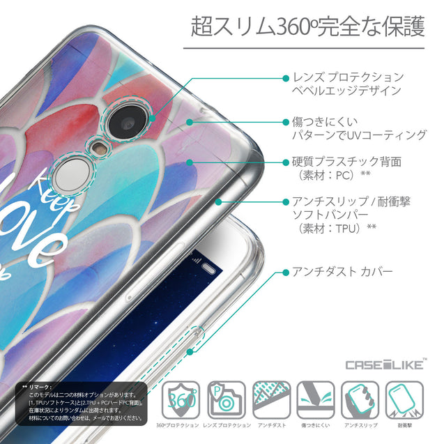 Details in Japanese - CASEiLIKE Xiaomi Redmi Note 3 back cover Quote 2417