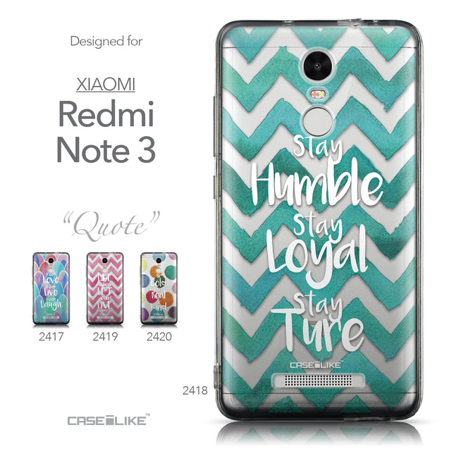 Collection - CASEiLIKE Xiaomi Redmi Note 3 back cover Quote 2418