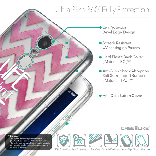 Details in English - CASEiLIKE Xiaomi Redmi Note 3 back cover Quote 2419