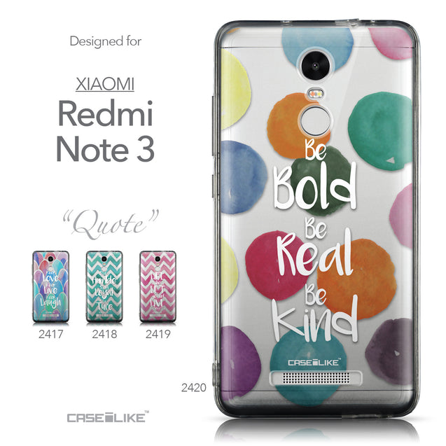 Collection - CASEiLIKE Xiaomi Redmi Note 3 back cover Quote 2420
