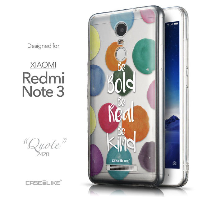Front & Side View - CASEiLIKE Xiaomi Redmi Note 3 back cover Quote 2420