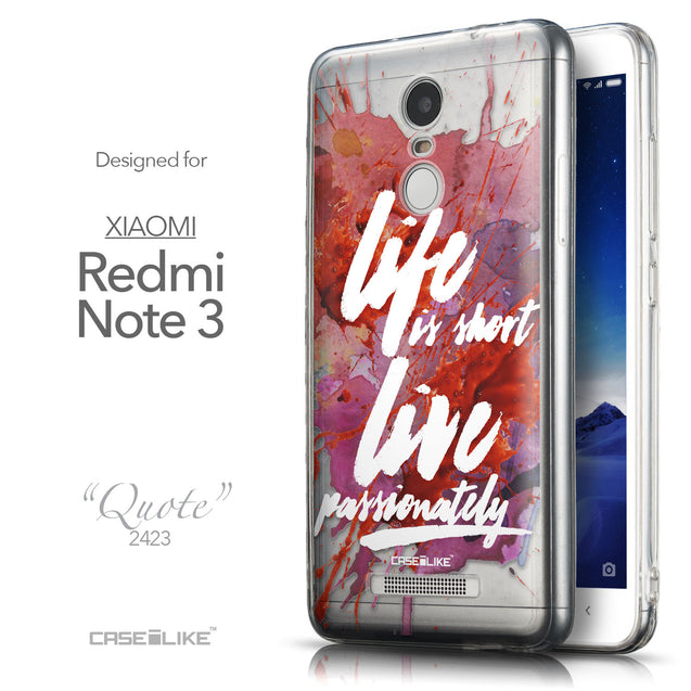 Front & Side View - CASEiLIKE Xiaomi Redmi Note 3 back cover Quote 2423