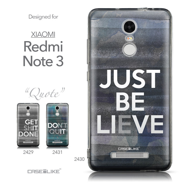 Collection - CASEiLIKE Xiaomi Redmi Note 3 back cover Quote 2430