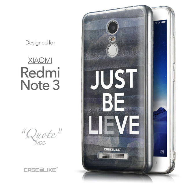 Front & Side View - CASEiLIKE Xiaomi Redmi Note 3 back cover Quote 2430