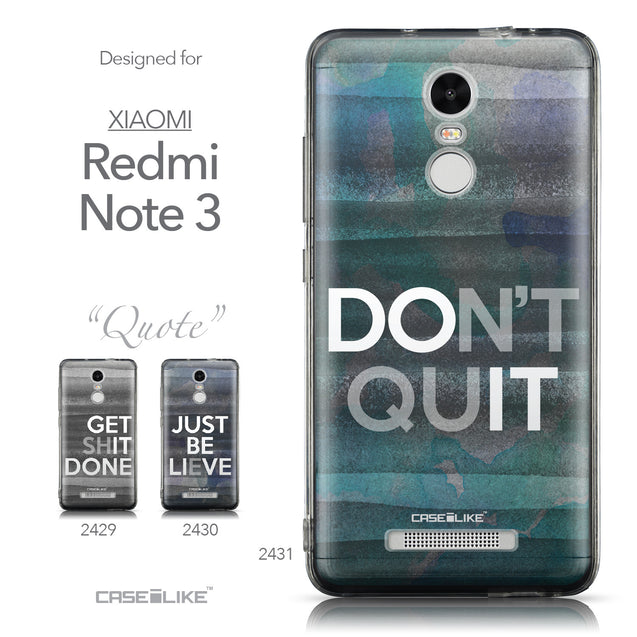 Collection - CASEiLIKE Xiaomi Redmi Note 3 back cover Quote 2431
