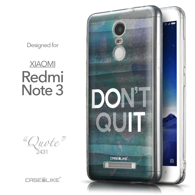 Front & Side View - CASEiLIKE Xiaomi Redmi Note 3 back cover Quote 2431