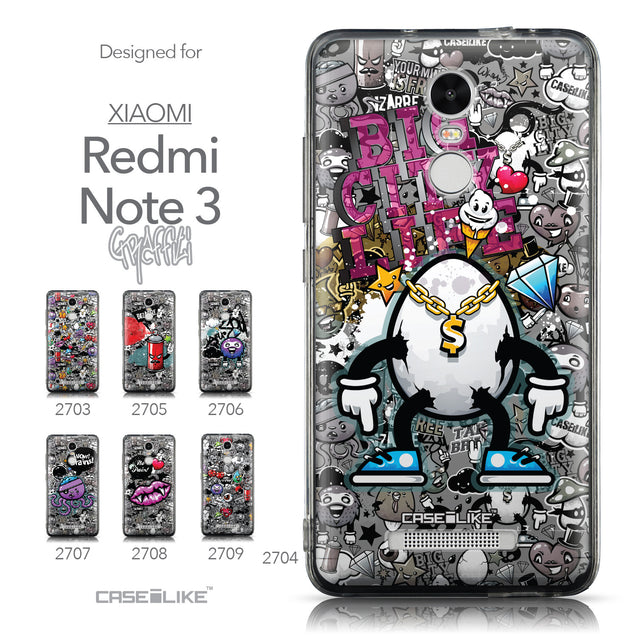 Collection - CASEiLIKE Xiaomi Redmi Note 3 back cover Graffiti 2704