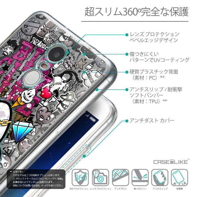 Details in Japanese - CASEiLIKE Xiaomi Redmi Note 3 back cover Graffiti 2704