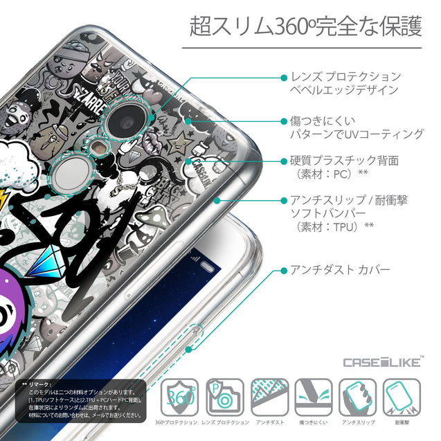 Details in Japanese - CASEiLIKE Xiaomi Redmi Note 3 back cover Graffiti 2706