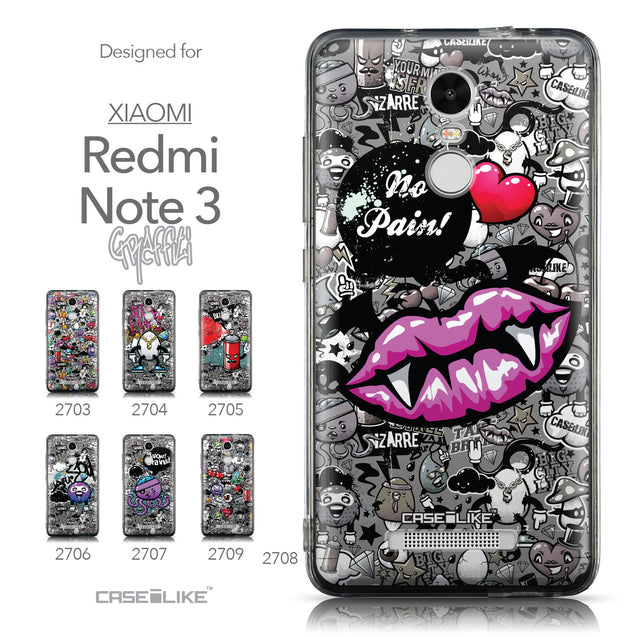 Collection - CASEiLIKE Xiaomi Redmi Note 3 back cover Graffiti 2708