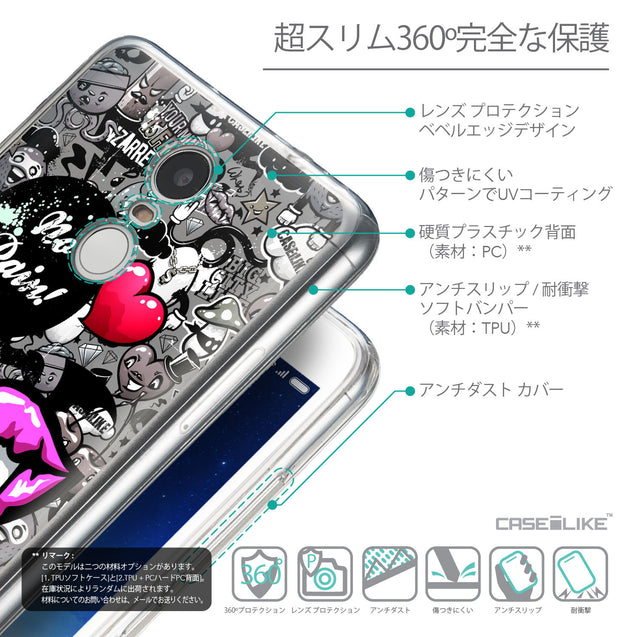 Details in Japanese - CASEiLIKE Xiaomi Redmi Note 3 back cover Graffiti 2708