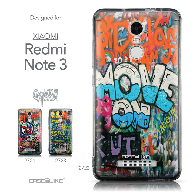 Collection - CASEiLIKE Xiaomi Redmi Note 3 back cover Graffiti 2722