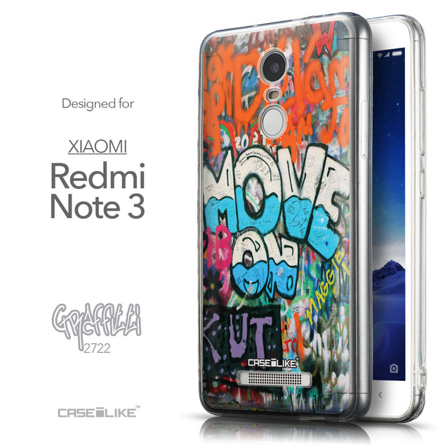 Front & Side View - CASEiLIKE Xiaomi Redmi Note 3 back cover Graffiti 2722