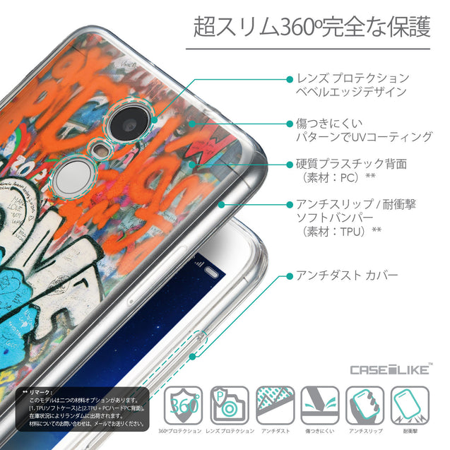 Details in Japanese - CASEiLIKE Xiaomi Redmi Note 3 back cover Graffiti 2722