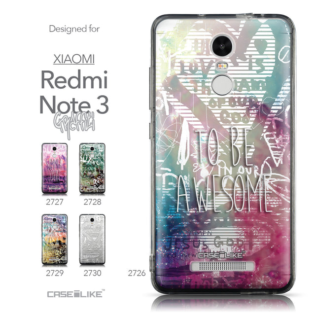 Collection - CASEiLIKE Xiaomi Redmi Note 3 back cover Graffiti 2726