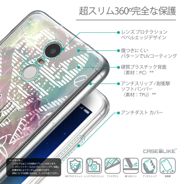 Details in Japanese - CASEiLIKE Xiaomi Redmi Note 3 back cover Graffiti 2726