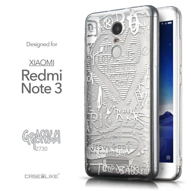 Front & Side View - CASEiLIKE Xiaomi Redmi Note 3 back cover Graffiti 2730