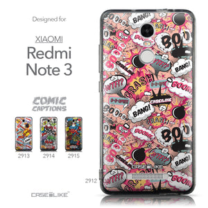 Collection - CASEiLIKE Xiaomi Redmi Note 3 back cover Comic Captions Pink 2912