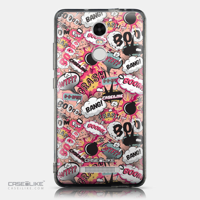 CASEiLIKE Xiaomi Redmi Note 3 back cover Comic Captions Pink 2912