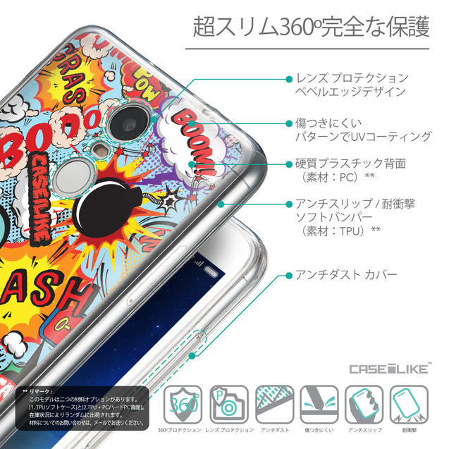 Details in Japanese - CASEiLIKE Xiaomi Redmi Note 3 back cover Comic Captions Blue 2913