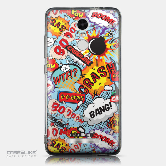 CASEiLIKE Xiaomi Redmi Note 3 back cover Comic Captions Blue 2913
