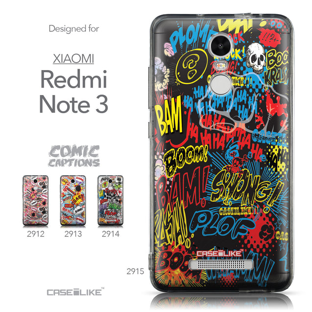 Collection - CASEiLIKE Xiaomi Redmi Note 3 back cover Comic Captions Black 2915
