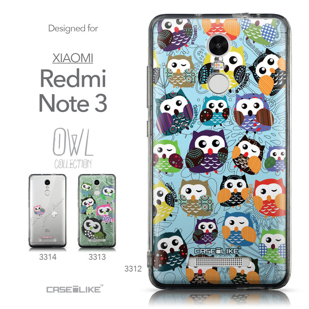 Collection - CASEiLIKE Xiaomi Redmi Note 3 back cover Owl Graphic Design 3312