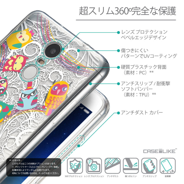 Details in Japanese - CASEiLIKE Xiaomi Redmi Note 3 back cover Owl Graphic Design 3316