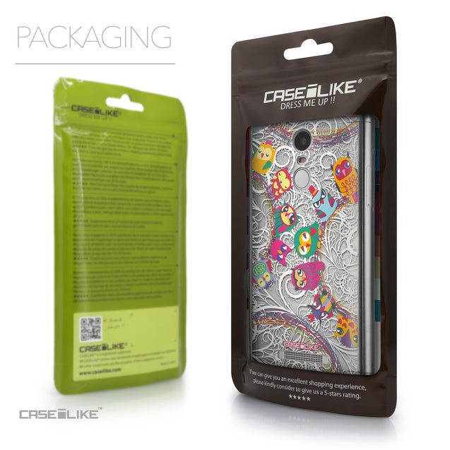 Packaging - CASEiLIKE Xiaomi Redmi Note 3 back cover Owl Graphic Design 3316