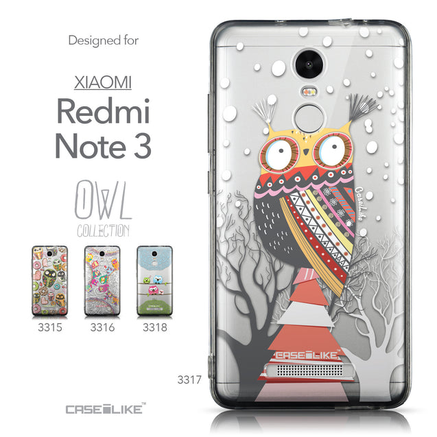 Collection - CASEiLIKE Xiaomi Redmi Note 3 back cover Owl Graphic Design 3317