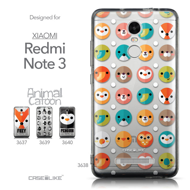 Collection - CASEiLIKE Xiaomi Redmi Note 3 back cover Animal Cartoon 3638