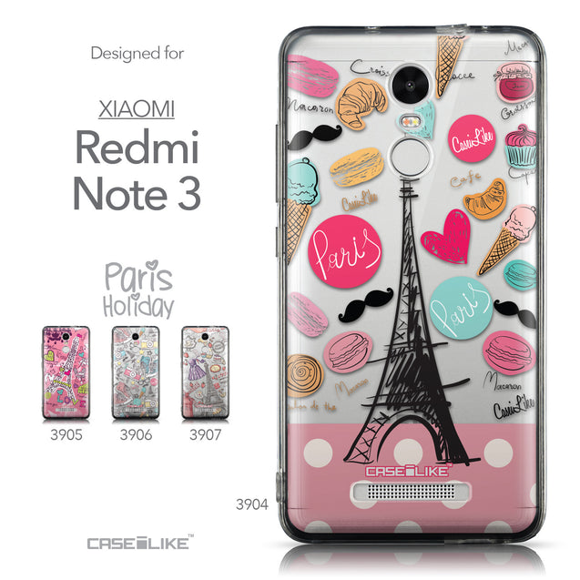 Collection - CASEiLIKE Xiaomi Redmi Note 3 back cover Paris Holiday 3904